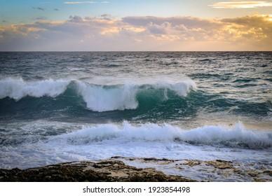 Seaside beach landscape and beautiful coastline with sea waves - Shutterstock ID 1923854498