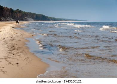 Seaside beach on the Baltic Sea, Lubiatowo, Poland