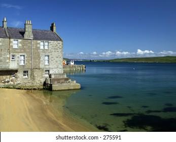 Seaside Buildings, Lerwick, Shetland, Scotland