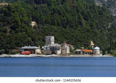 Seaside buildings at Mount Athos
