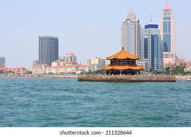 Seaside Chinese city, Qingdao, where Tsingtao beer was made