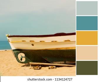 Seaside color palette. Harmonious combination of colors.