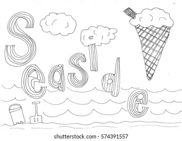 At the seaside drawing
