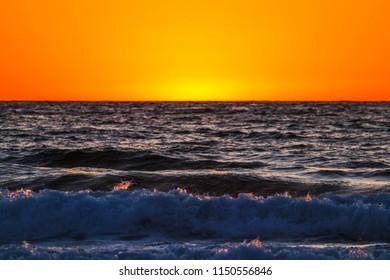 Seaside Fiery Sunset