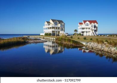 Seaside homes in Rodanthe, North Carolina