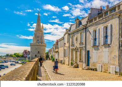 Seaside of La Rochelle dominated by Tour de la Lanterne, France