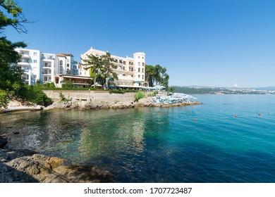 Seaside in Opatija, Kvarner bay, Croatia.