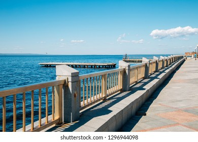 Seaside park in Vladivostok, Russia