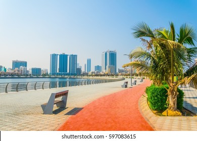 seaside promenade in Ajman, UAE