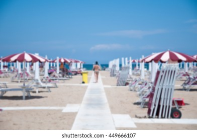 seaside resort located on the seafront claudio tintori in rimini with blur effect