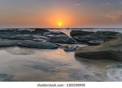 Seaside Seascape - Sunrise from Soldiers Beach in Norah Head, Wyong on the Central Coast, NSW, Australia.