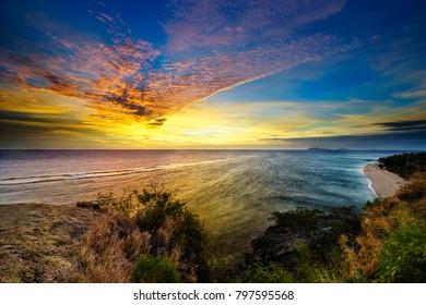 Seaside sunset iamge