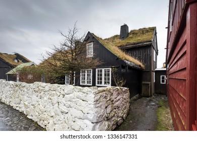 Seaside Town Torshavn in Faroe Islands