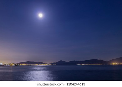 Seaside under the moonlight