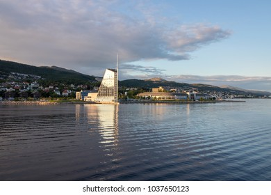 Seaside view of Molde, Norway. Molde is a city and municipality in More og Romsdal county in western Norway.