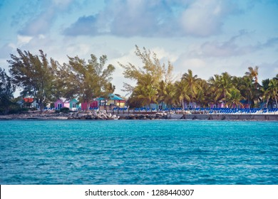 Seaside view of Princess Cays ,part of Eleuthera island in Bahamas.