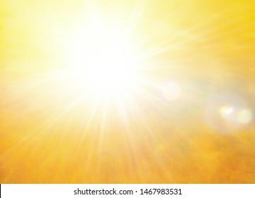 sunlight very hot. summer season