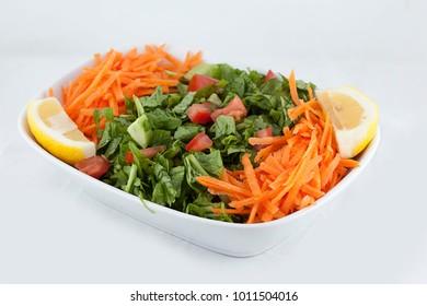 Season Salad White Background