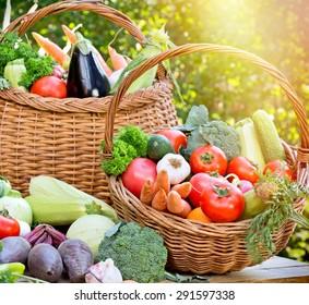 Seasonal fresh organic vegetables