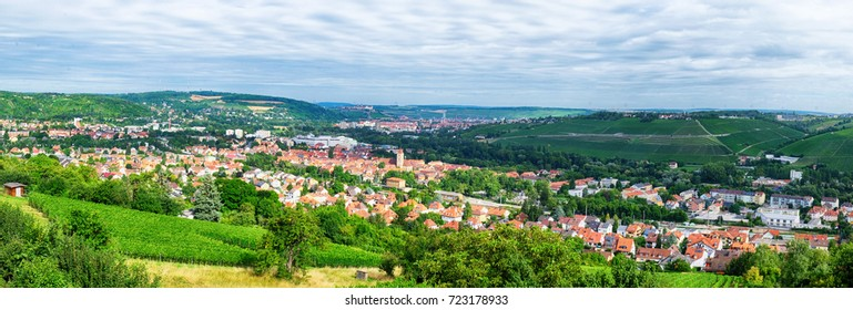 seasonal landscape and panoramic view of Wurzburg, Bavaria