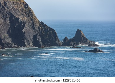 Seastacks and cliffs along the Oregon Coastline at the Samuel H Boardman scenic corridor