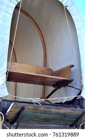 Seat and canvas of a vintage Covered Wagon