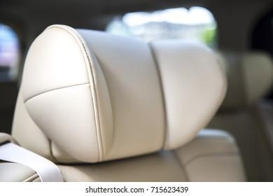 Seat head, close up inside a car