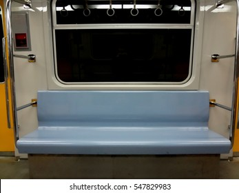 Seat inside subway