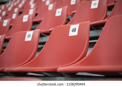 Seat number 46 in the VR46 grandstand Muggello race track