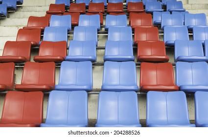 seat on sport stadium