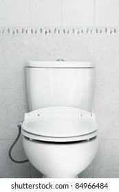 seat toilet with hygiene look