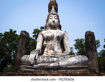 Seated Buddha statue at Sukhothai Historical Park, Sukhothai Province, Thailand