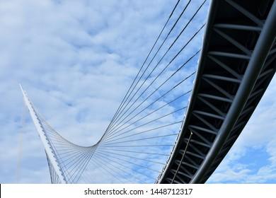 Seatgang Bridge is a walking bridge that connects Sindang-dong and Yeouido. (Seoul, Korea. Jul. 8, 2019)