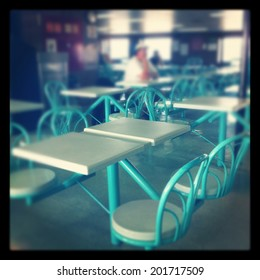 Seating in food court - instagram effect