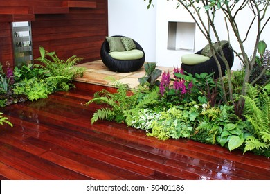 Seating and plants
