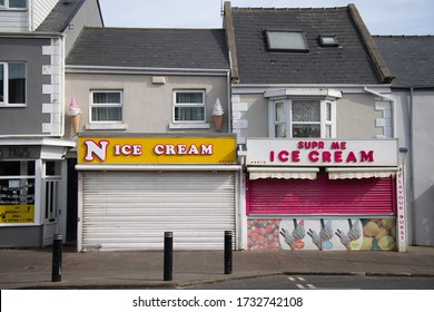 Seaton Carew, Hartlepool / UK - March 23rd 2020: A deserted sea side town of Seaton Carew as the UK is placed into lockdown due to the Coronavirus outbreak.
