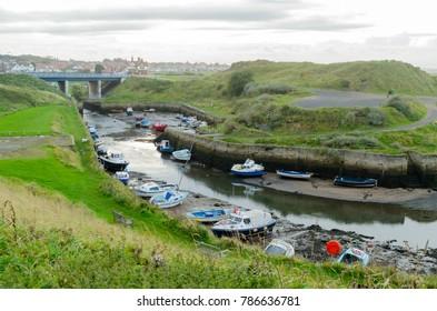 Seaton Sluice Harbour at Seaton Sluice, Northumberland