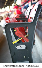 Seats at the ballpark. St Louis Cardinals, Busch Stadium, St Louis, Missouri