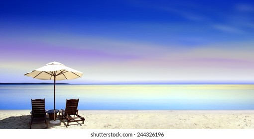 Seats at the beach