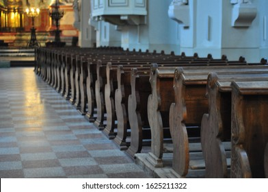 seats in the church for parishioners