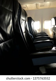 Seats are on airplane.