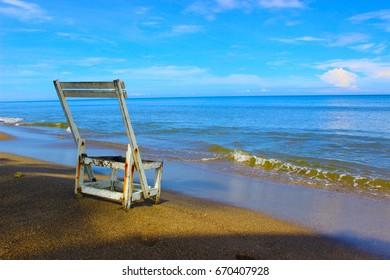 Seats on the beach
