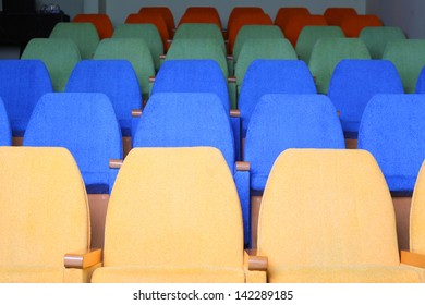 seats rows in the cinema hall