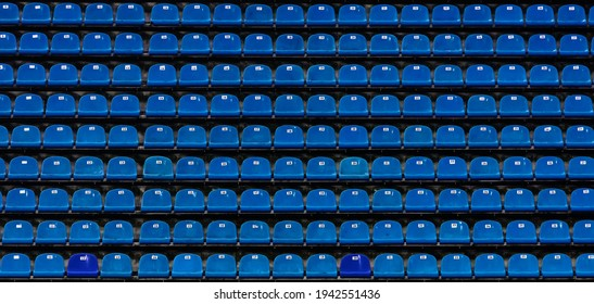 Seats at the stadium. shallow depth of field.