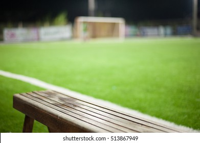 Seats for substitutes or reserves in indoor futsal pitch
