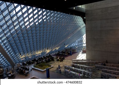 Seattle Central Library Main Hall,USA 2. Photo taken on 2012.02.03 afternoon at Seattle.