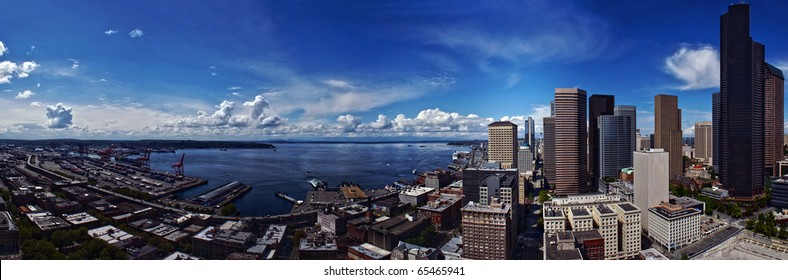 Seattle Downtown and Port Harbor