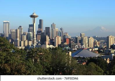 Seattle downtown skyline, WA.