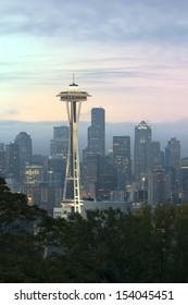 Seattle in the Early Morning with Mystery Scene