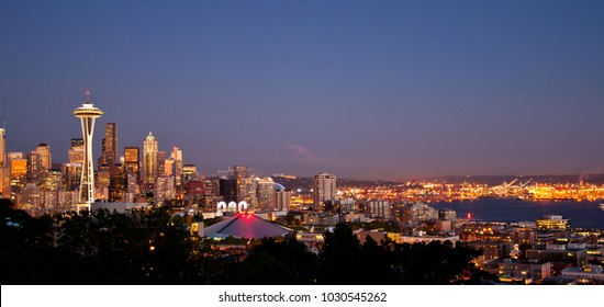 Seattle Evening Wide